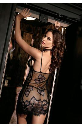 Nuisette Blake sexy à bretelles,Tulle transparent et dentelle