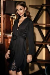 Halblanger Kimono Angelina mit langen Ärmeln und Spitze. Verschiedene Farben.