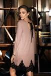 Nachthemd in Oberschenkellänge Angelina mit langen Ärmeln und Spitze