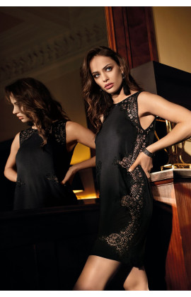 Mid-thigh length nightdress Angelina so chic sleeveless and lace