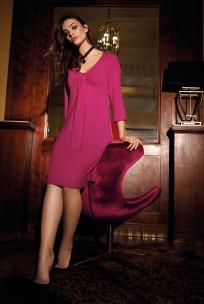 Chemise de nuit Chic relax manche ¾, différentes couleurs unies.