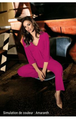Pyjama Chic relax 2 pièces, haut manche ¾