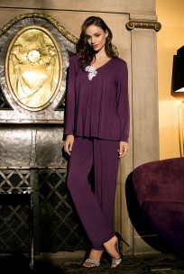 Pyjama Luna 2 pièces manches longues, décolleté en V