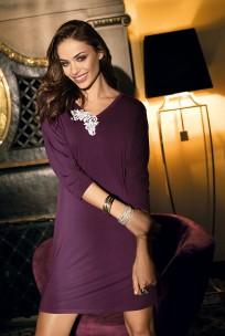 Simple tunic cut nightdress Luna ¾ sleeves