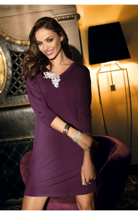 Simple tunic cut nightdress Luna ¾ sleeves