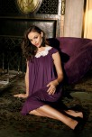 Nightdress Luna short sleeves round neckline and lace