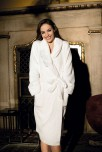 Long dressing-gown Luna with classic scarf. Available in 2 colors