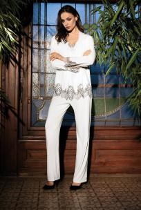 Pyjama Darcia 2 pièces manches longues  décolleté en V