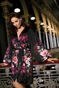 Dressing-gown Kaori satin long sleeves