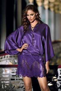 Kurzer Kimono mit Schleife Violetta