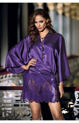 Dressing-gown Violetta kimono short top oversized
