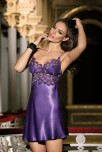 Elegant nightdress Violetta lace on bust satin and thin strapes