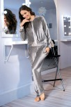 Gray tracksuit2 pieces long sleeves