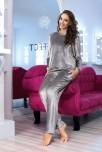 Pyjama / tracksuit Glow 2 pieces gray velour