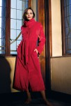 Maxi length dressing-gown / bathrobe Wellness collar