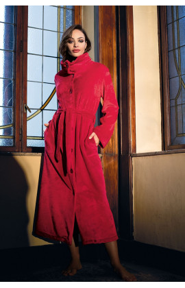Maxi length dressing-gown / bathrobe collar