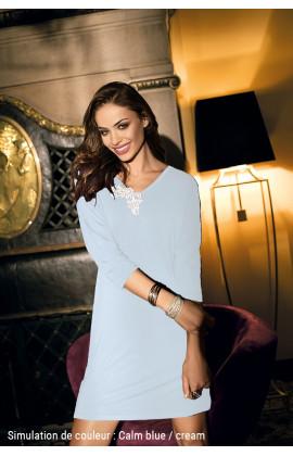 Chemise de nuit Luna tunique manches ¾