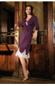 Nightdress Angelina knee-length . Lace. Wrinkling under the bust line