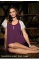 Nightdress Angelina Length after knee, Short sleeves with lace