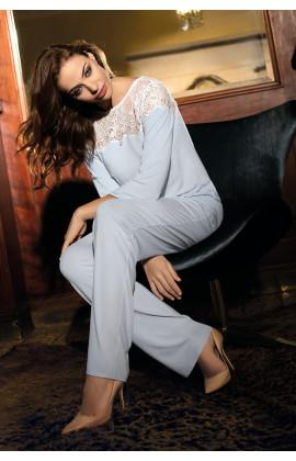 Pyjama  Angelina 2 pièces décolleté rond en dentelle