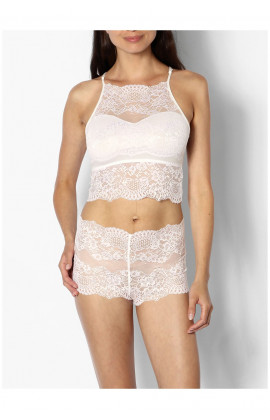 Lace bralette and French knicker lingerie set - coemi-lingerie Gisele range