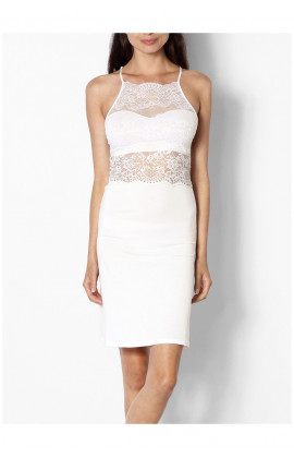 Fitted nightdress with lace neckline and backline - Coemi-lingerie Gisele range