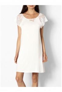 Chemise de nuit / robe d'intérieur petites manches en dentelle - Ligne Gisèle