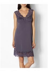 Beautiful loungewear nightdress with lace trim and plunging backline- Coemi-lingerie Gisele range