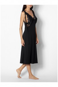 Sleeveless nightdress with plunging neckline - Coemi-lingerie
