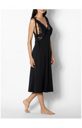 Sleeveless nightdress with plunging neckline - Coemi-lingerie Gisele range