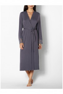 A classic mid-length dressing gown.  Coemi-lingerie
