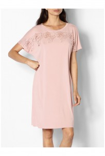 Nachthemd im Tunika-Stil mit kurzen Ärmeln - Gigi range