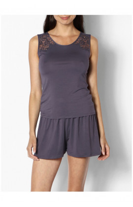 Two-piece sleeveless top and shorts nightset