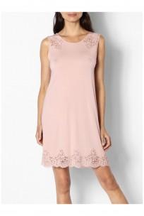 A sleeveless lace-trimmed tunic nightdress