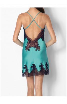 Nuisette glamour en satin fines bretelles et dentelle  - Ligne Eteranl Glam Coemi-lingerie