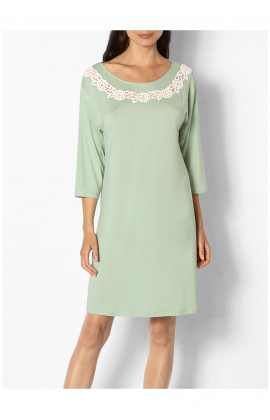 Knee-length round neck tunic nightdress