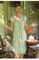 Chemise de nuit ample décolleté rond et manches courtes évasées Ligne June coemi-lingerie