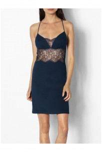 Nightdress with thin straps, pretty neckline and lace racer back - Palmer range