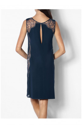 Chemise de nuit / robe d'intérieur col rond et dentelle Ligne Palmer coemi-lingerie