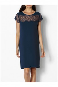 Chemise de nuit / robe d'intérieur manches courtes col rond Ligne Palmer coemi-lingerie