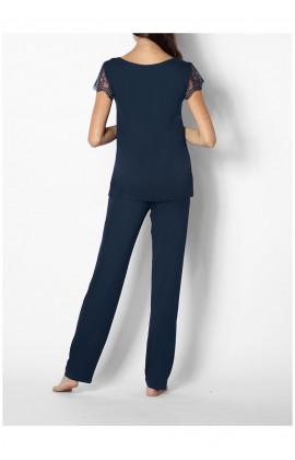 Pyjama 2 pièces manches courtes et dentelle Ligne Palmer coemi-lingerie