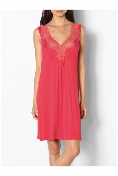 Chemise de nuit / robe d'intérieur courte sans manches dentelles Ligne Allure coemi-lingerie