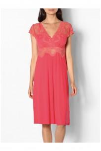 Chemise de nuit robe d'intérieur mi-longue manches courtes Ligne allure