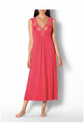 Chemise de nuit robe d'intérieur longue sans manches et dentelle Ligne Allure coemi-lingerie