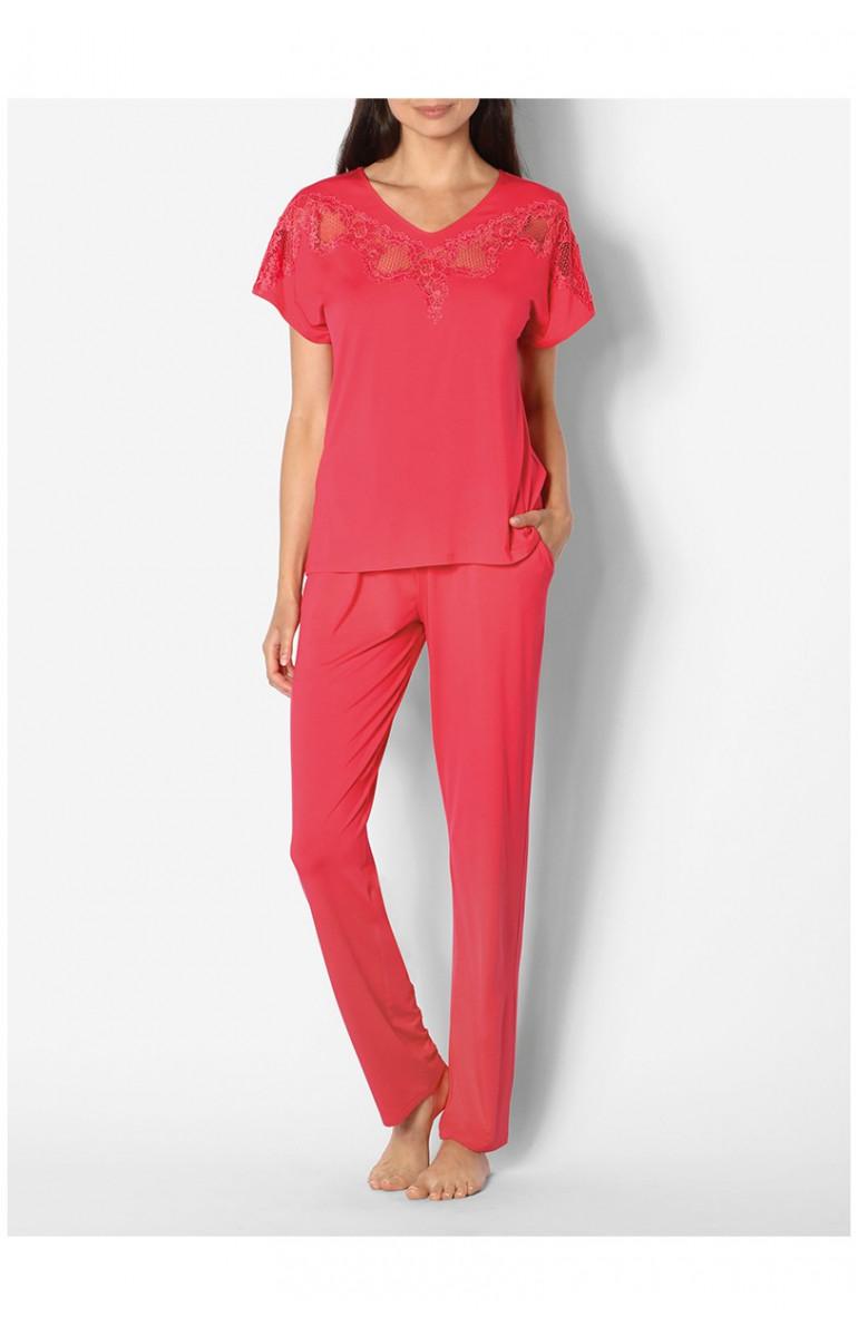 Pyjama 2 pièces manches courtes et dentelle Ligne Allure coemi-lingerie