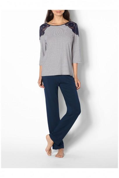 Pyjama 2 pièces couleurs coordonnées manches 3/4 Ligne Saylor coemi-lingerie