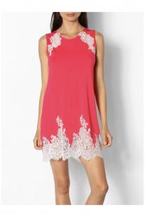 Sleeveless nightdress with lace insert