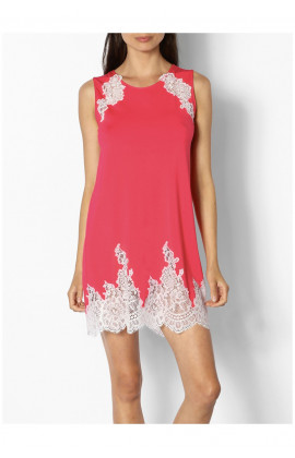 Sleeveless nightdress with lace insert