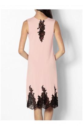 Chemise de nuit / robe d'intérieur sans manche col en V dentelle Ligne Odele coemi-lingerie