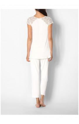 Pyjama / tenue d'intérieur haut manches courtes et dentelle Ligne Ella coemi-lingerie